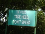 Take Heed, Don't Speed