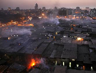 Dharavi, India's Largest Slum at Dusk