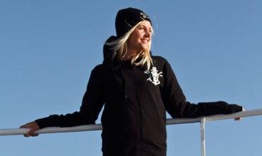 British Sea Shepherd volunteer Natalie Fox. Photograph: Sea Shepherd