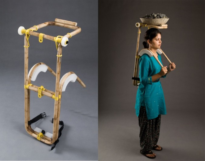 Award-winning Load Carrier designed by Vikram Panchal, senior faculty at the National Institute of Design (NID), Ahmedabad India