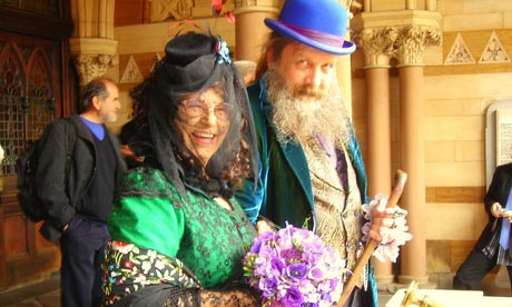 The wedding of Alan Moore and Melinda Gebbie. Photograph: Neil Gaiman/Writer Pictures