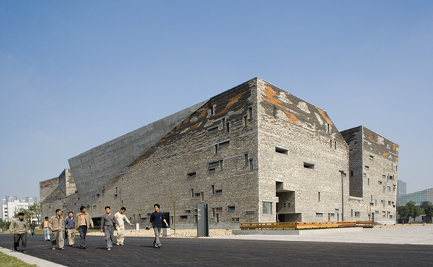 Ningbo History Museum by architect Wang Shu