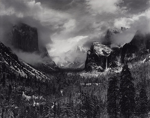 Clearing Winter Storm, Yosemite national park, California, about 1937