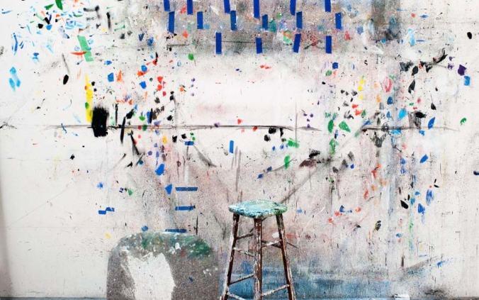 A wall in the studio of artist Ellsworth Kelly. Photo by Alex Majoli and Daria Birang/Magnum