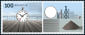 © Die Post  Swiss Post has asked Ursus Wehrli to create a tidied up stamp – the stamp is NOW available at every Swiss post office.