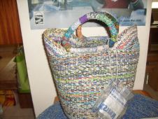 Bag made out of used water sachets credit Douglas Bruce