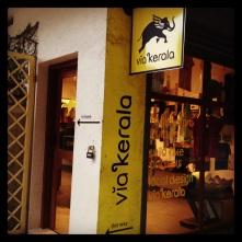 Storefront of the Viakerala shop at Cardamom County
