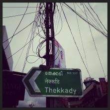 Thekkady road sign