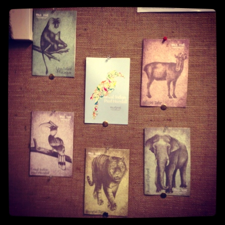 Wild5five original charcoal hand drawn illustrations reprinted on paper