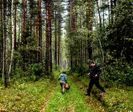 Brendan Hoffman for The New York Times. Guides lead a mushroom hunt in Suzdal.