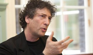 'We have an obligation to imagine' … Neil Gaiman gives The Reading Agency annual lecture on the future of reading and libraries. Photograph: Robin Mayes