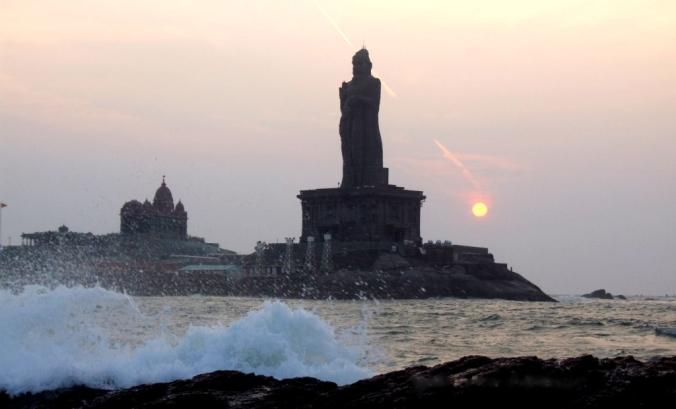 Photo credits: Ramesh Kidangoor . Sunrise at Kanyakumari