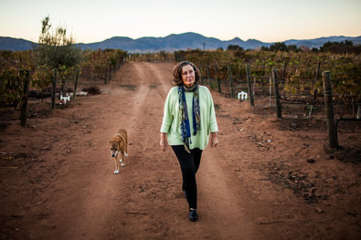 """Max Whittaker for The New York Times Natalia Badán, a winery owner and longtime resident of the Guadalupe Valley, called a zoning change """"an aggression."""""""