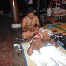 "Applying makeup for ""Hanuman"""