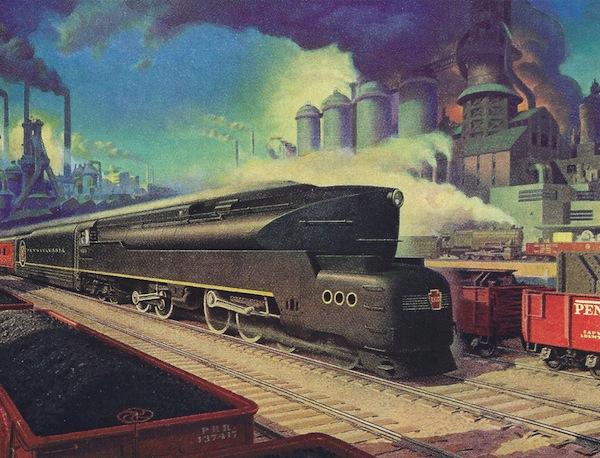 A postwar ad for the Pennsylvania Railroad.