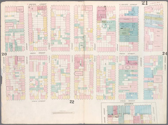 """Plate 21 from """"Maps of New York City,,"""" by William Perris (1857)"""