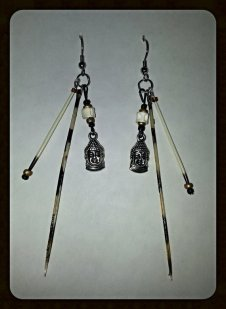 Lionfish spine earrings from Gypsy Piper Girl