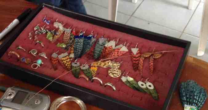 Assorted lionfish jewelry from Palovi Baezar, Punta Gorda, Belize