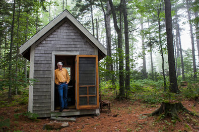 Craig Dilger for The New York Times. Douglas Preston, a best-selling author with Hachette Publishing, at his writing shack in Maine.