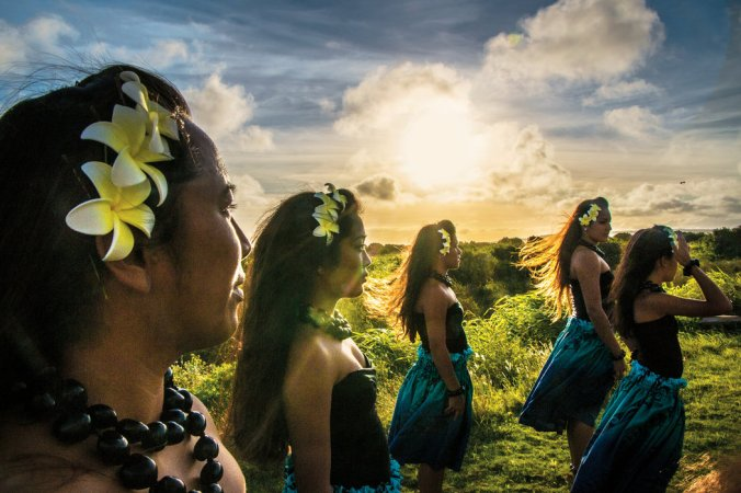 """Mark Peterson and Greta Pratt for The New York Times. The Tamatea Nui Lana'i Polynesian dance group. All of Lanai's owners have sought, in one way or another, to refashion the island into a paradise on earth. Larry Ellison hopes to transform it into the """"first economically viable, 100 percent green community."""""""