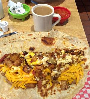 A breakfast taco in Texas. John Burnett/NPR