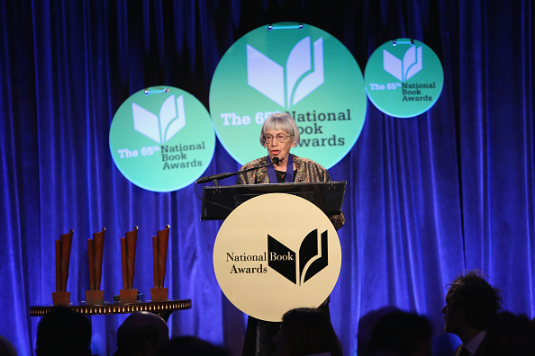 NEW YORK, NY - NOVEMBER 19:  Ursula K. Le Guin attends 2014 National Book Awards on November 19, 2014 in New York City.  (Photo by Robin Marchant/Getty Images)