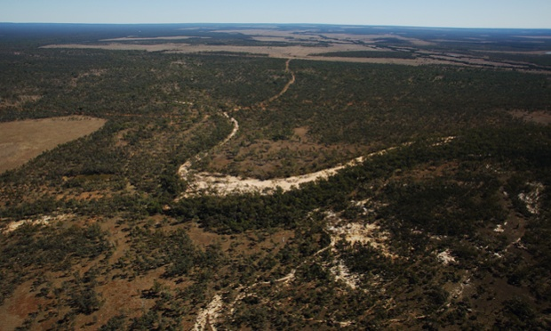 The Galilee basin in central Queensland: 'it would produce 6% of the carbon necessary to take the planet past a 2C temperature rise, the red line set by the world's governments'. Photograph: Andrew Quilty/PR