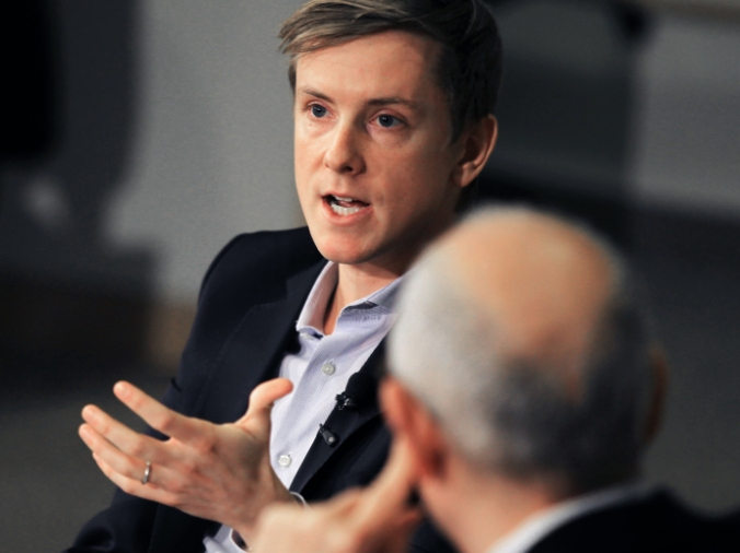 Chris Hughes, the thirty-one-year-old owner of The New Republic. CREDIT PHOTOGRAPH BY JONATHAN WIGGS/THE BOSTON GLOBE VIA GETTY
