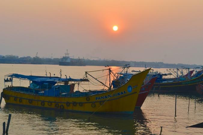 Sunrise over Cochin Harbor