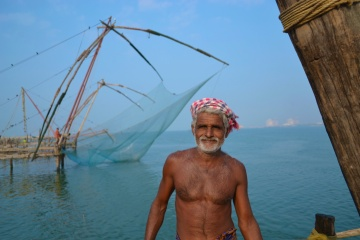 Marconi in front of of the nets in Fork Kochi