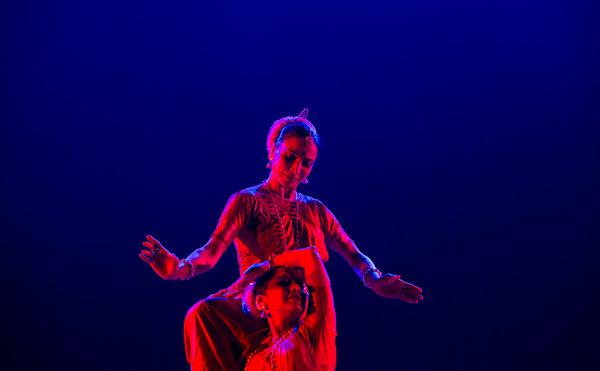 "Bijayini Satpathy, top, and Surupa Sen in two duets, ""Dheera Sameere"" and ""Kisalaya Sayana,"" in Chennai, India. Credit Jyothy Karat for The New York Times"