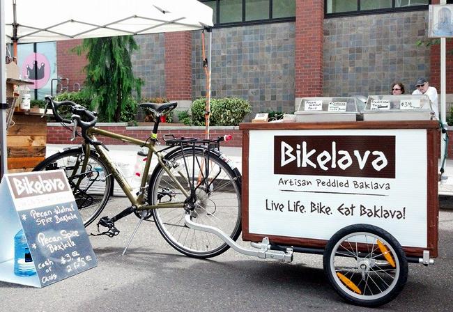 Bikelava invites you to indulge in traditional, artisanal Greek Baklava peddled by bike. Photo credit: Bikelava