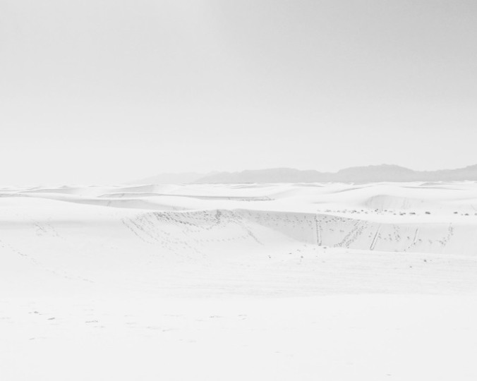 Getting lost in White Sands, New Mexico. PHOTOGRAPH BY SHANE LAVALETTE