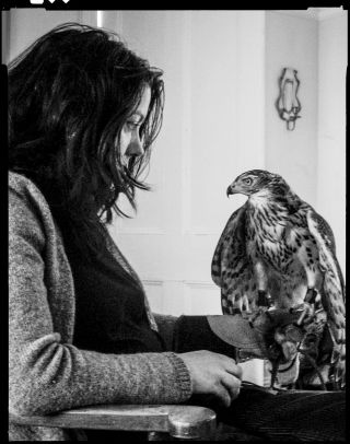 Haunted by her father's death, Helen Macdonald kept company with a bird of prey. CREDIT PHOTOGRAPH BY CHRISTINA MCLEISH / COURTESY GROVE ATLANTIC