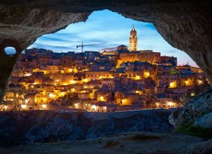 Inhabited since prehistoric times, the caves of Matera, in the Basilicata region, housed mostly the very poor until recent renovations. CREDIT PHOTOGRAPH BY SIMON NORFOLK / INSTITUTE