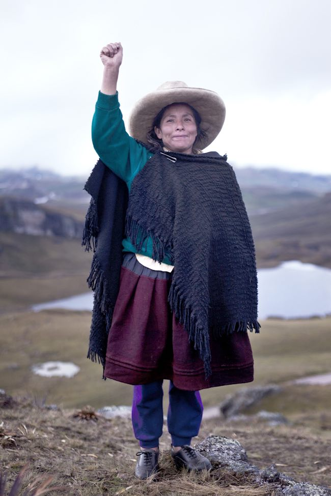 Acuña de Chaupe has become the target of harassment and violence because she refuses to cede her land to Newmont. Photo credit: Latin American Mining Monitoring Programme
