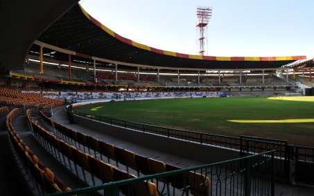 A general view of the inside of M. Chinnaswamy Stadium cricket stadium. PHOTO: DIBYANGSHU SARKAR/AFP/Getty Images)
