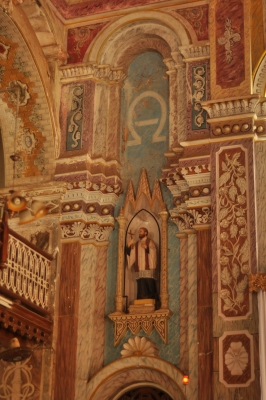 Apart from seven canvases on the Passion of Christ, the walls and columns have murals and frescoes
