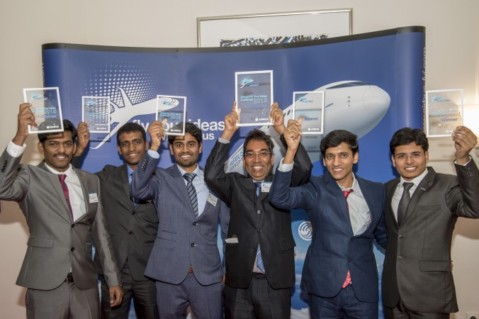 A team of Indian students won the fourth edition of the Airbus Fly Your Ideas global competition organised in partnership with UNESCO to encourage innovators . PHOTO: Airbus
