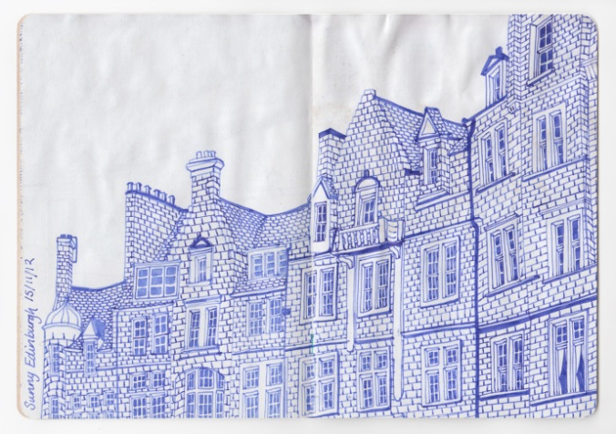 DRAWING BY CHARLOTTE VALLANCE, COURTESY THE SKETCHBOOK PROJECT