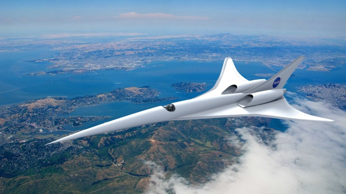 Supersonic flight is one of the four speeds of flight. speeds up to five times faster than the speed of sound. PHOTO: NASA