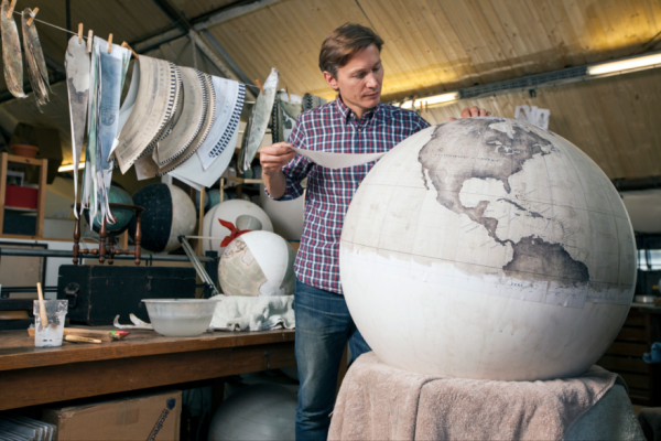 It took a long time to make one that was perfectly balanced and approx. 2 years before Bellerby produced a globe that I could sell. (Photo by Stuart Freedman)