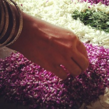 Women rise at dawn and decorate the pookalam as they sing folk songs