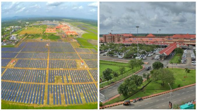 Kerala, India, has the world's first solar-powered airport. PHOTO:  CIAL