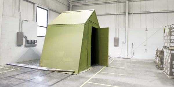 The flat-pack design could reduce energy demand drastically compared to a standard canvas structure. PHOTO: CoExist