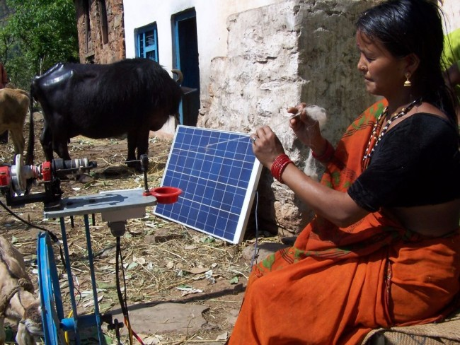 Avani uses green energy for all their production processes. Solar energy is used in the form of solar powered spinning wheels and calendering machines for all textile production. PHOTO: Avani