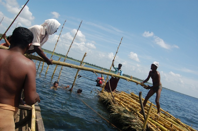A fish sanctuary in the making on Lake Vembanad, Kerala, India. PHOTO: Scroll