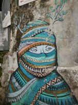 Street art on a street in Fort Kochi. PHOTO: Rosanna