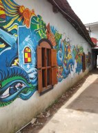 A mural painted as part of the Kochi Muziris Biennale 2014. PHOTO: Rosanna