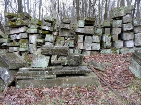 The Capitol stones at Rock Creek Park in DC. PHOTO: Bill Lebovich